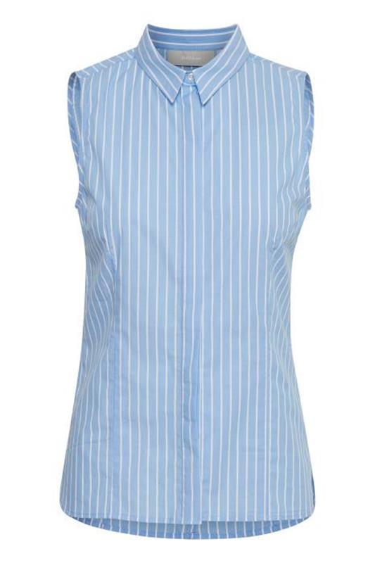 koszula elegancka w paski bez rękawów