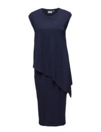 sukienka maxi granatowa bez rękawów
