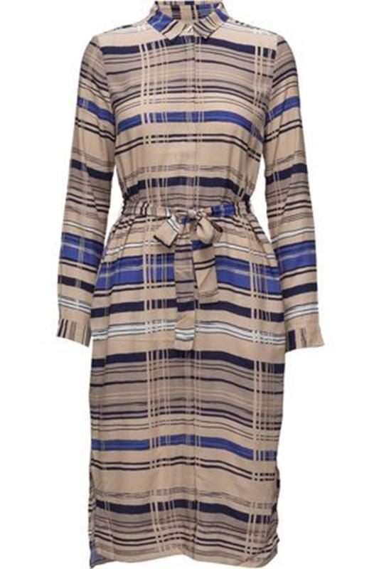 długa sukienka koszulowa w paski