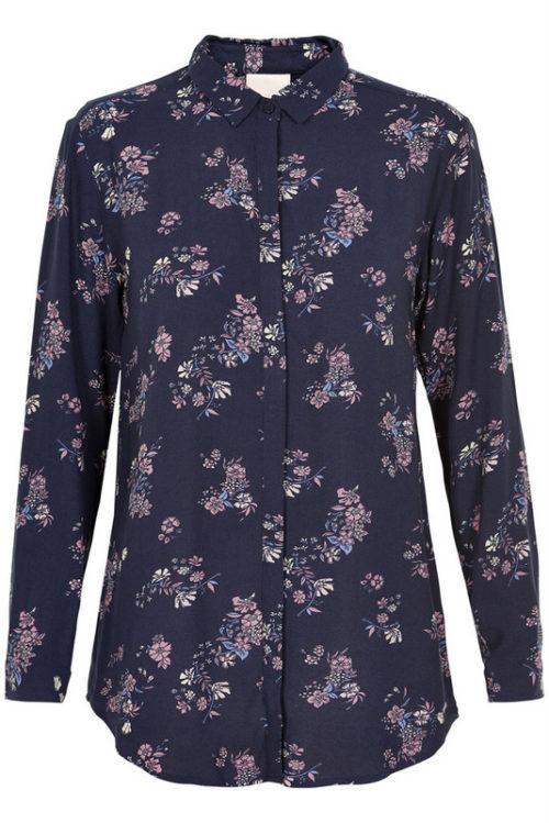 koszula z długim rękawem w kwiatki