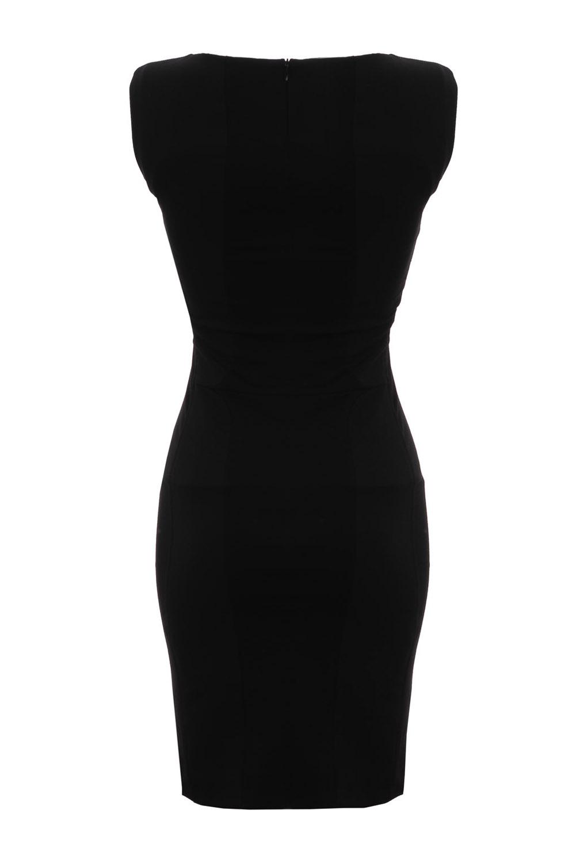 sukienka czarna taliowana karen by simonsen