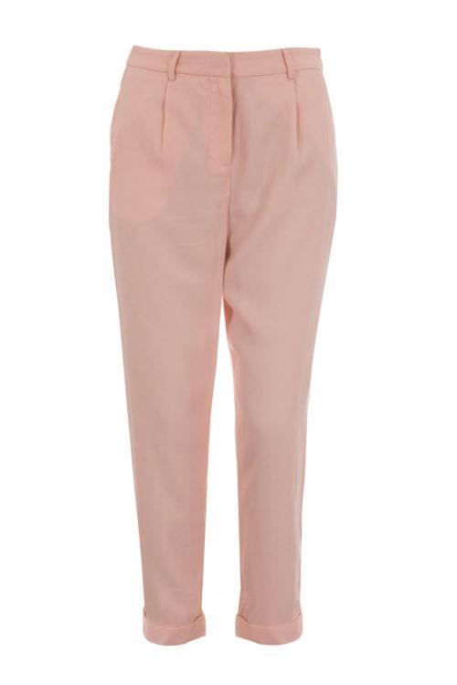 spodnie marchewki pudrowy róż