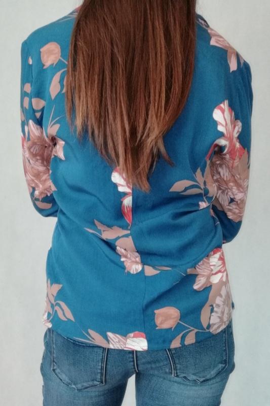 elegancka koszula z wiskozy z dekoltem