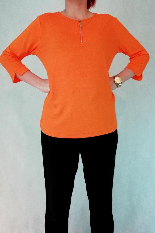 bluzka z zamkiem pomarańczowa