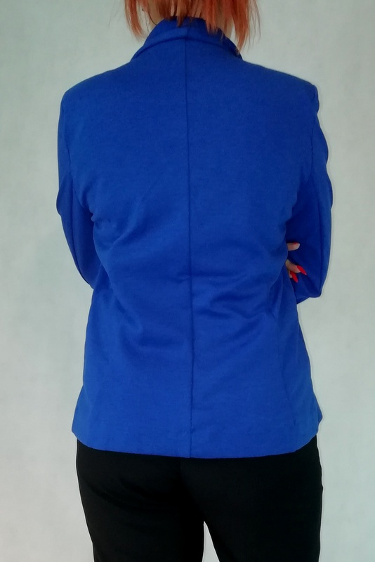 marynarka żakiet niebieski na guzik