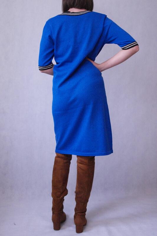 sukienka chabrowa dzianinowa