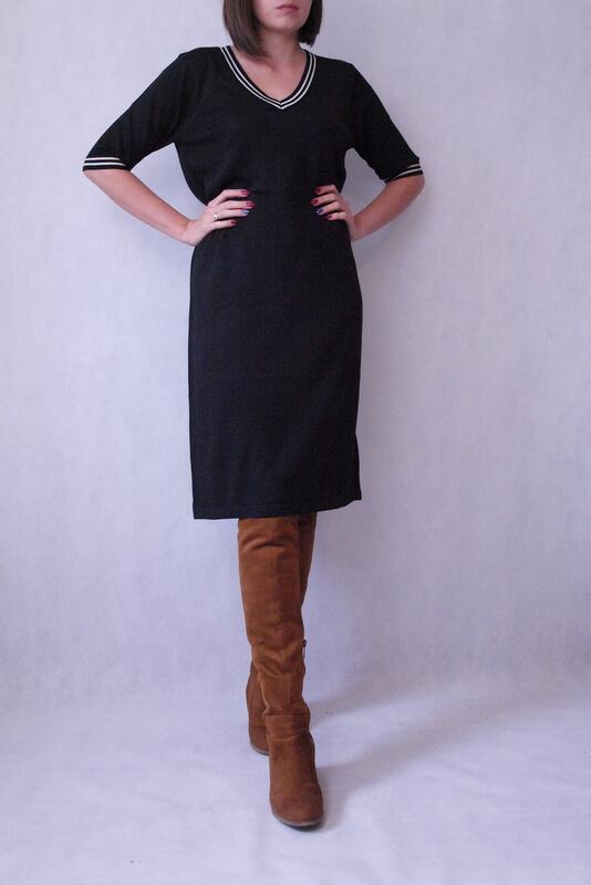 sukienka dzianinowa czarna