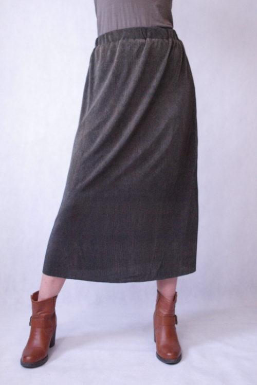 spódnica maxi plisowana mieniąca się